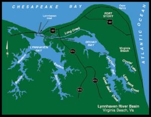 Map of Lynnhaven River Basin, VA Beach, VA