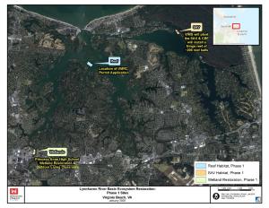 Lynnhaven River Basin Ecosystem Restoration Phase 1 Sites Map