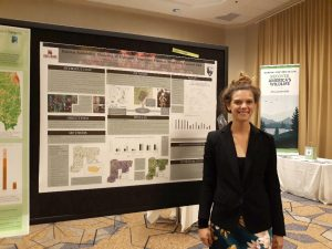 Frostburg graduate student Elizabeth Green with her award-winning poster